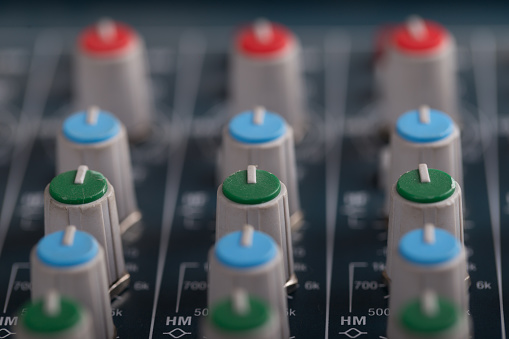 Music mixer console