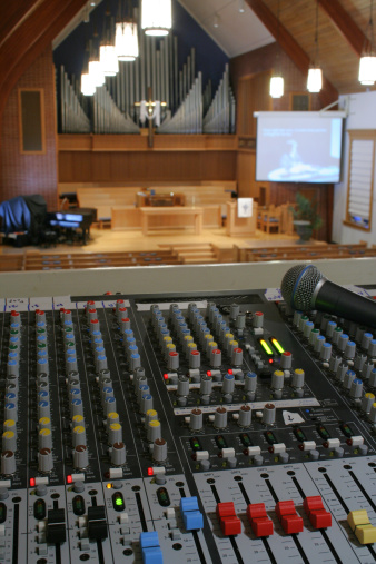 Running sound at a church worship service