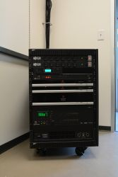 Video switching/ Digital Sound Processor Mobile Rack